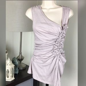 Anthropologie Deletta Lilac Ruched Blouse Small